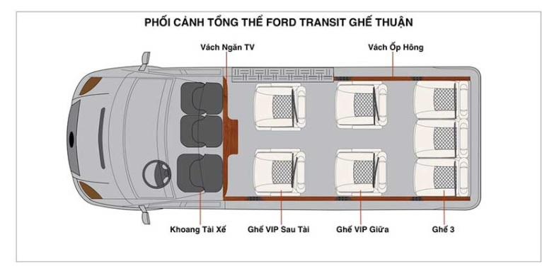 Ford transit lomousine - 10 chỗ ngồi - 1