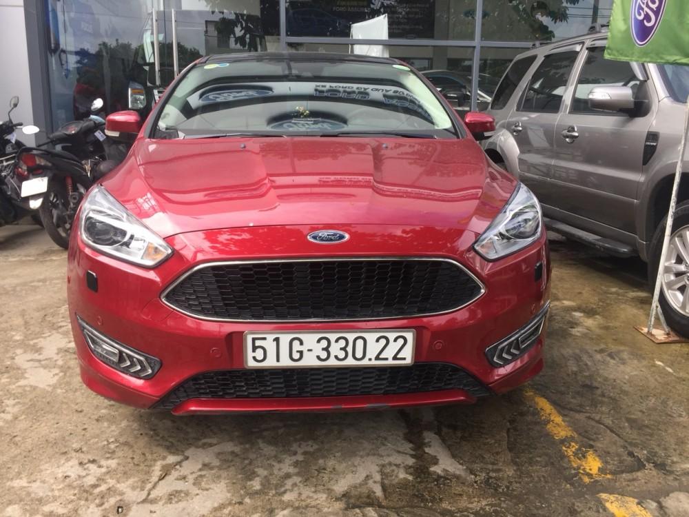 Ford focus 15s - đăng ký 12017 - màu đỏ - 1