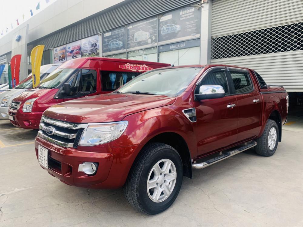Ford ranger 22xlt- đời 2013 số sàn 2 cầu màu đỏ - 5