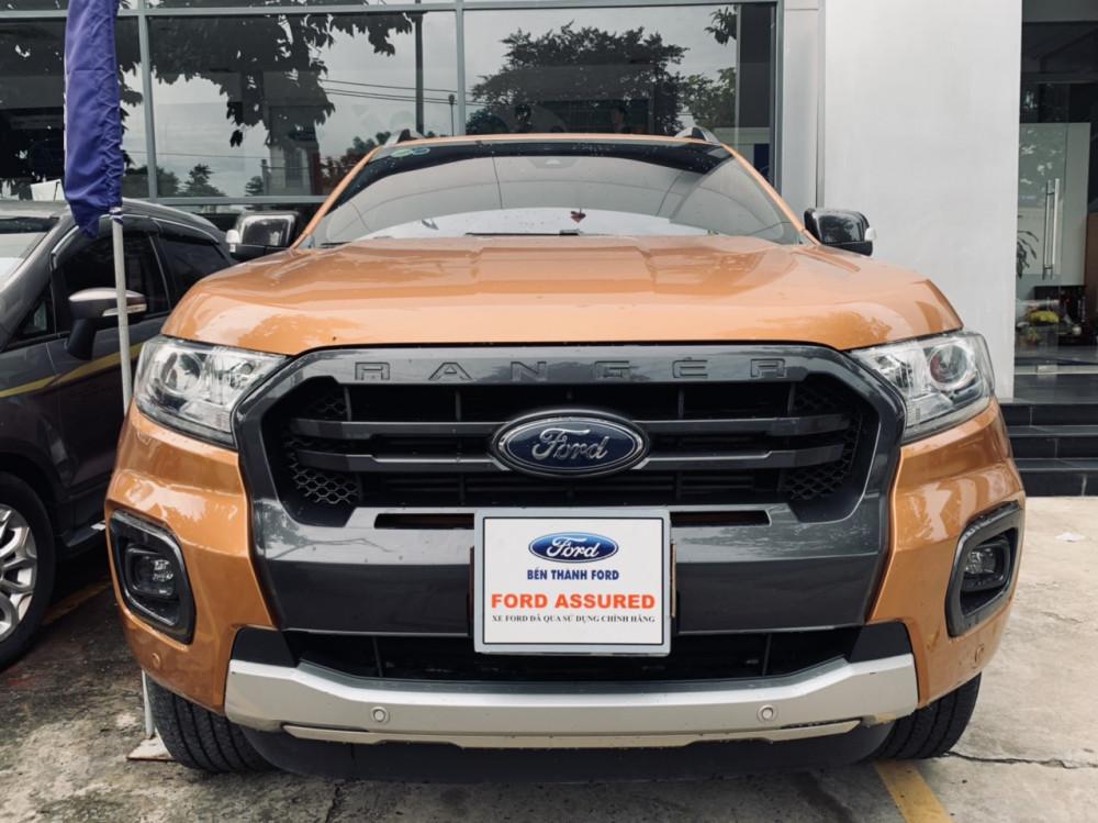 Ford ranger 20 wildtrack cũ đời 2018 - màu cam - 1 chủ sử dụng - 1